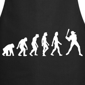 Black Evolution of Baseball (1c)  Aprons - Cooking Apron