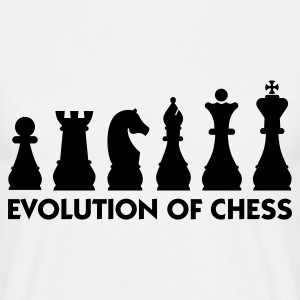 Blanc Evolution of Chess 2 (1c) T-shirts - T-shirt Homme