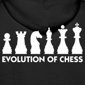 Black Evolution of Chess 2 (1c) Hoodies & Sweatshirts - Men's Premium Hoodie