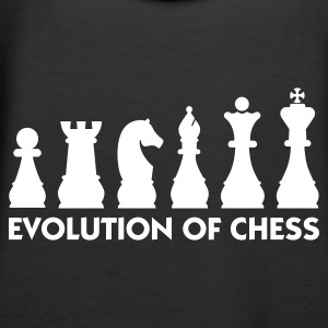 Svart Evolution of Chess 2 (1c) Tröjor - Premiumluvtröja dam