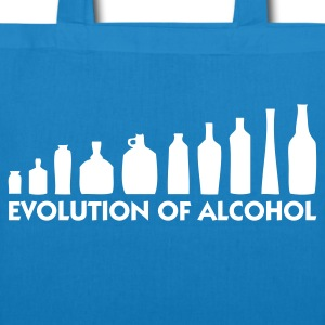 Peacock-blue Evolution of Alcohol 1 (1c) Bags  - EarthPositive Tote Bag