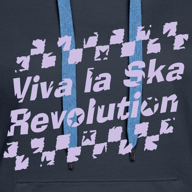 navyfarbener Ska-Kapuzenpullover Viva la Ska Revolution 1farbig