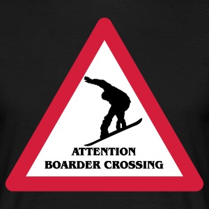 Attention Snowboarder Crossing 2014 T-Shirts - Männer T-Shirt