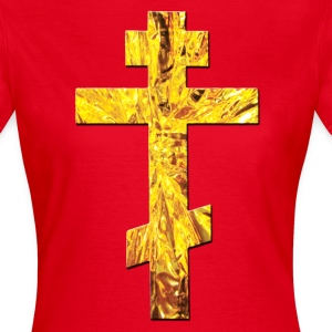 Rot Russisches Kreuz Orthodox Gold / Russian Cross T-Shirts - Frauen T-Shirt