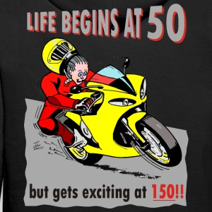 Life begins at 50 Hoodies & Sweatshirts - Men's Premium Hoodie