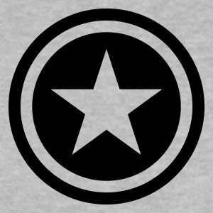 Heather grey star single blackcircle Baby shirts - Baby T-shirt