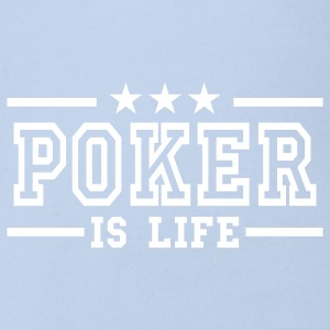 Rot poker is life deluxe Baby Body - Baby Bio-Kurzarm-Body
