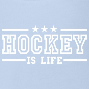 Rot hockey is life deluxe Baby Body - Baby Bio-Kurzarm-Body
