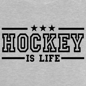 Heather grey hockey is life deluxe Baby Shirts  - Baby T-Shirt
