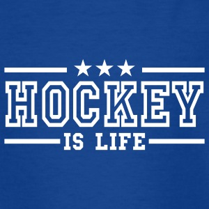 Navy hockey is life deluxe Kinder T-Shirts - Teenager T-Shirt