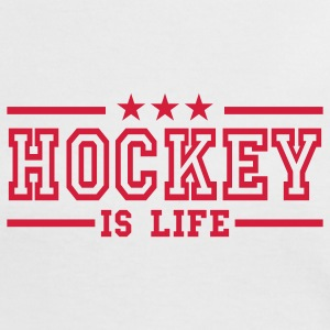 Weiß/rot hockey is life deluxe T-Shirts - Frauen Kontrast-T-Shirt