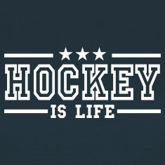 Navy hockey is life deluxe Women's T-Shirts