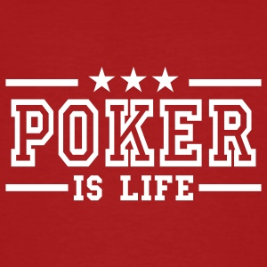 Dark red poker is life deluxe Men's T-Shirts - Men's Organic T-shirt