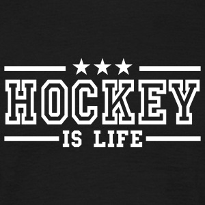Noir hockey is life deluxe T-shirts - T-shirt Homme