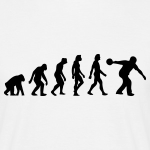 Wit Evolution of Bowling (1c) T-shirts - Mannen T-shirt