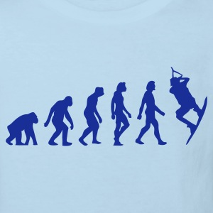 Hellblau Evolution of Kite Surfing (1c) Kinder T-Shirts - Kinder Bio-T-Shirt