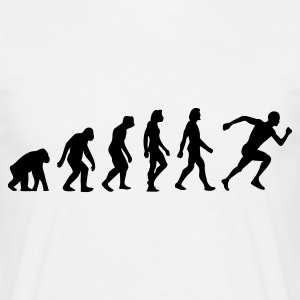 Blanc Evolution of Running (1c) T-shirts - T-shirt Homme