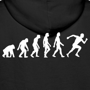 Black Evolution of Running (1c) Hoodies & Sweatshirts - Men's Premium Hoodie