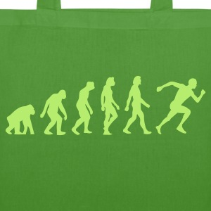 Leaf green Evolution of Running (1c) Bags  - EarthPositive Tote Bag