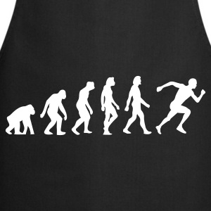 Black Evolution of Running (1c)  Aprons - Cooking Apron