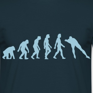 Navy Evolution of Skating (1c) Men's T-Shirts - Men's T-Shirt