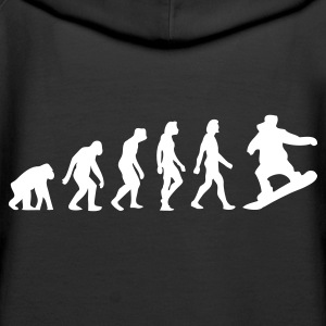 Black Evolution of Snowboarding (1c) Hoodies & Sweatshirts - Women's Premium Hoodie