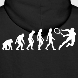 Noir Evolution of Tennis (1c) Sweatshirts - Sweat-shirt à capuche Premium pour hommes