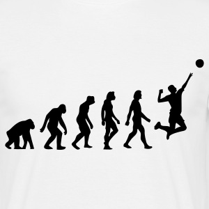 Hvid Evolution of Volleyball (1c) T-shirts - Herre-T-shirt