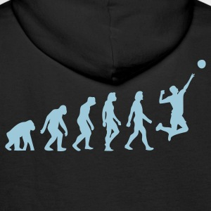 Black Evolution of Volleyball (1c) Hoodies & Sweatshirts - Men's Premium Hoodie