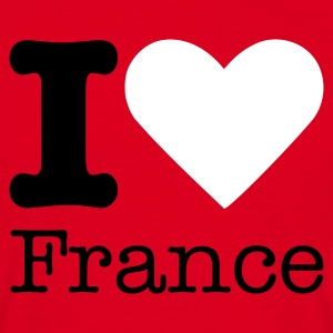 I Love France T-shirts - Mannen T-shirt