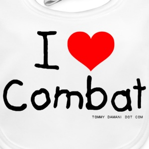 I Love Combat Accessories - Baby Organic Bib