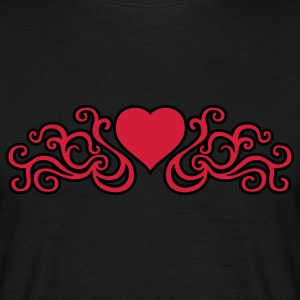 tribal_heart_2c_kontur T-Shirts - Men's T-Shirt