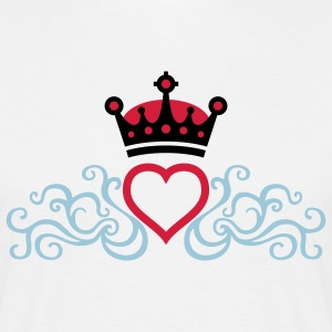 tribal_heart_crown_3c T-Shirts - Men's T-Shirt
