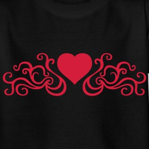 tribal_heart_1c Shirts - Teenage T-shirt