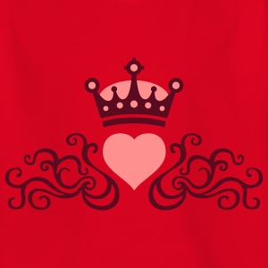tribal_heart_e_2c_crown Shirts - Teenage T-shirt