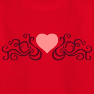 tribal_heart_e_2c Shirts - Teenage T-shirt