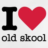 Ontwerp ~ I Love Old Skool Babyshirt