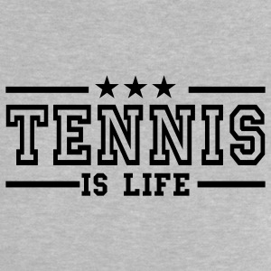 Heather grey tennis is life deluxe Baby shirts - Baby T-shirt