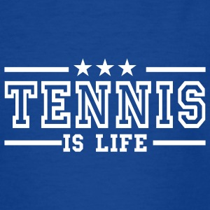 Navy tennis is life deluxe Kinder T-Shirts - Teenager T-Shirt