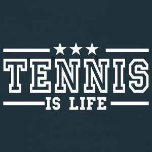 Marinblå tennis is life deluxe T-shirts - T-shirt herr