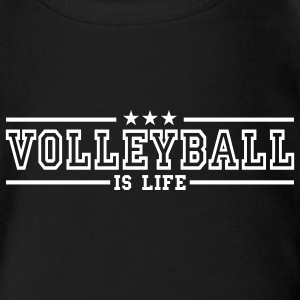 volleyball is life deluxe Babybody - Økologisk kortermet baby-body