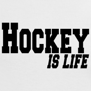 hockey is life T-shirt - Maglietta Contrast da donna
