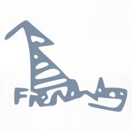 Design ~ French Dog Women's Contrast T-Shirt