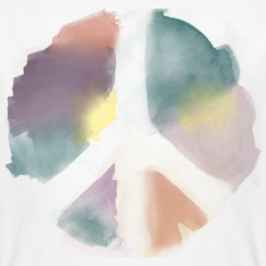 Water Color Peace Aquarell T-Shirts - Männer Bio-T-Shirt