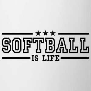softball is life deluxe Mugs  - Mug