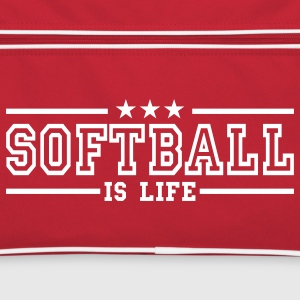 softball is life deluxe Borse - Borsa retrò