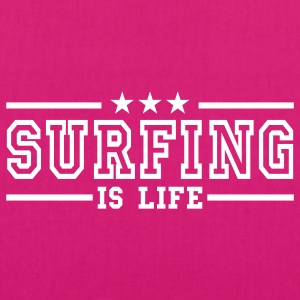 surfing is life deluxe Borse - Borsa ecologica in tessuto