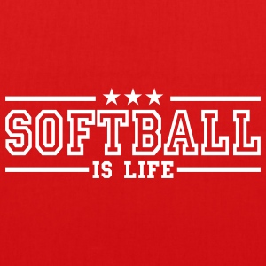 softball is life deluxe Tassen - Bio stoffen tas