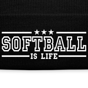 softball is life deluxe Caps & Hats - Winter Hat