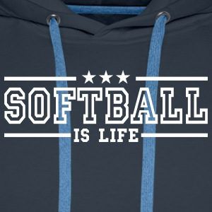 softball is life deluxe Sweaters - Mannen Premium hoodie